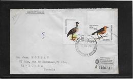 Argentine N°941/942 - Oiseaux - Enveloppe Recommandée - TB - Argentina