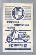 Suikerzakje.- STOKVIS En ZONEN N.V. PUCH Bromfietsen Motorrijwielen. Sugar Bag. Embalage De Sucre. Zucchero. Zucker - Suiker