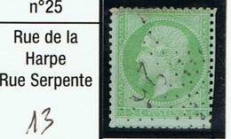 N°20 Etoile 25 Frappe Identifiable - 1862 Napoléon III