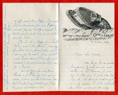 14 18 Camp De CHÂLONS 551ème Régiment De Chars Lourds 1923 Illustration Papier à Lettre Très Bon Etat - 1914-18