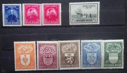BELGIE 1947    Nr. 748 /  749 - 50 / 756 - 60    Postfris **    CW  37,50 - Bélgica