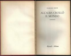 """ALL'ALBA CROLLO' IL MONDO Di H.Rein-1°ediz.Rizzoli 1955 """"collana SIDERA"""" Pp.264--------(1853E) - Libri, Riviste, Fumetti"""