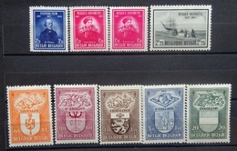 BELGIE 1947    Nr. 748 /  749 - 50 / 756 - 60    Scharnier *   CW  22,00 - Belgique