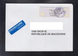 FRANCE, COVER / PRIORITY, REPUBLIC OF MACEDONIA ** - 2000 «Avions En Papier»