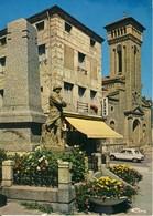 Roche-La-Molière  Le Monument Aux Morts Et L'Eglise  Cp Format 10-15 - Francia