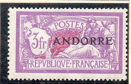 XP3402 - ANDORRA FRANCESE 1931,  Unificato N. 20 * Linguella  Pesante (2380A) . - Andorre Français