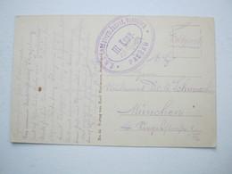PASSAU   , Klarer Stempel Auf Feldpostkarte Mit Truppenstempel Aus Strassburg - Brieven En Documenten