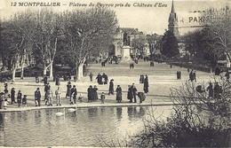 *CPA - 34 - MONTPELLIER - Plateau Du Peyrou Pris Du Château D'eau - Tres Animée - Montpellier