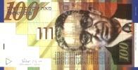 ISRAEL 2002 - NIS 100 - Yitzhak Ben-Zvi - Signed David Klein & Shlomo Lorincz - UNC - Israel