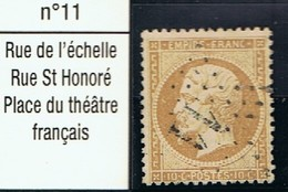 N°21 Etoile 11 Belle Frappe Beau Timbre - 1862 Napoléon III