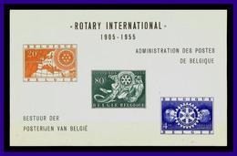 1955 - Belgica - Scott Nº HB 479a - 480a - 481a - Sin Dentar - MNH - Lujo - BE- 17 - 01 - Belgique