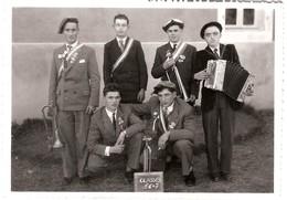 CARTE PHOTO  A Identifier GROUPE DE MUSICIENS ACCORDÉON TROMPETTE  14,5X10,5CM - Cartes Postales