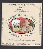 Etiquette De Bière   -  L'Angélus De Mars  -  Brasserie Lepers à Annoeullin  (59) - Beer