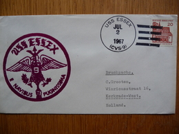 (2) Schiffpost Shipmail DEUTSCHE SHIFFPOST USS ESSEX NAVIBUS PUGNISSUMA 1967 - Boten