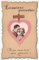 Les Anciens Proverbes - Mieux Vaut Tard Que Jamais - Démobilisé - Collage - Coppie
