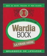 Etiquette De Bière   -  Wardia Bock -  Brasserie De Lewarde   (59) - Bier