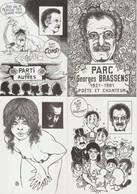 5 CARTES Georges BRASSENS -  - Illustrateur Géo Thiercy - Künstlerkarten
