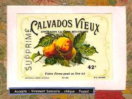 Etiquette Calvados Vieux - Rhum