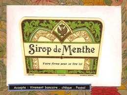 Etiquette Sirop De Menthe - Labels