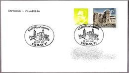 Matasellos EXFILNA'87. GIRONA M'ENAMORA. Girona 1987 - 1931-Hoy: 2ª República - ... Juan Carlos I