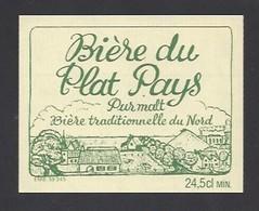 Etiquette De Bière   -  Du Plat Pays -  Brasserie De  Lewarde  (59) - Beer