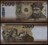 HUNGARY 2000 FORINT (P204) 2016 UNC - Hongarije