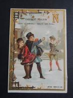 CHROMO. Chocolat  POULAIN. Lettre De L'Alphabet. Le  N.   Enfants Qui Jouent.  Bataille De  Boules De Neige. - Poulain