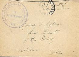 64- Cachet Hôpital-Centre Spécial De Réforme -Annexe Bon Pasteur à Pau Sur Lettre En 1918 - Storia Postale