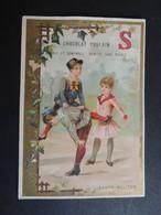 CHROMO. Chocolat  POULAIN. Lettre De L'Alphabet. Le  S.   Enfants Qui Jouent.  SAUTE-MOUTON - Poulain