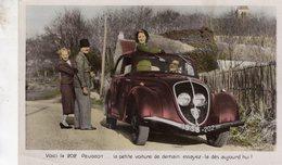 Voici La 202 Peugeot  -  Original Peugeot Sales Card  -  Carte Postale - Passenger Cars