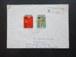 Mosambik / Mocambique 1977 Einschreiben Nampula In Die DDR Luftpost / Air Mail über Lisboa Portugal - Mozambique