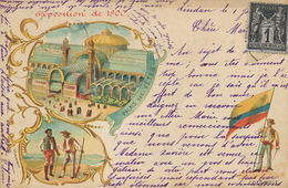 Colombie . Drapeau . Exposition Paris 1900 . Litho . P. Used Bayern Lindau Bodensee - Colombie