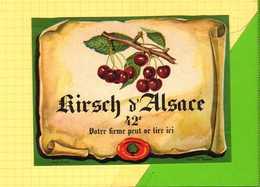 """Etiquette  Kirsch D""""Alsace  Cerises - Fruits & Vegetables"""