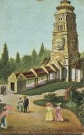 Palais Et Tour Du Cambodge . Monument Khmer . Expo Coloniale Marseille 1906  Art Card . Hand Colored - Cambodge