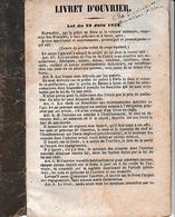 1862 (Napoléon III) - AVERNES (95) VIGNATS (14) -LIVRET D'OUVRIER Journalier Moissonneur - Documents Historiques