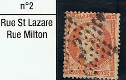 N°23 Etoile 2 Très Belle Frappe Très Beau Timbre - 1862 Napoléon III