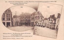 ¤¤  -    BETHUNE-RENAISSANCE  -   La Place Du Marché Marmottan De La Rue Gambetta En 1918 Et 1923       -  ¤¤ - Bethune