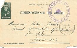 64- Cachet Hôpital-Formation Sanitaire - Ustaritz Sur Lettre Militaire Avec Correspondance En 1916 - Oorlog 1914-18