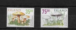 Serie De Islandia Nº Yvert 868/69 ** SETAS (MUSHROOMS) - 1944-... Republic