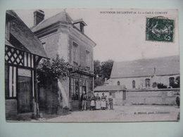 """CPA 76 Lintot Canton Bolbec - Le Centre Du Village - Vue Du Café """"J.Comont"""" Et Animation   A Voir ! - Frankreich"""