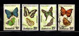 JAMAICA    1978    Butterflies  ( 3rd  Series )    Set  Of  4    USED - Jamaica (1962-...)