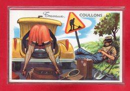 45-CPA COULLONS - CARTE A SYSTEME DE 10 VUES DE COULLONS - France