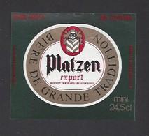 Etiquette De Bière Export - Platzen  -  Brasserie à Armentières (59) - Beer