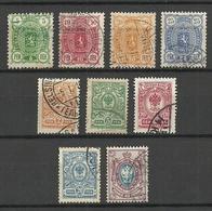 FINLAND Finnland 1889-1911 Michel 28 - 31 & 61 - 65 O - 1856-1917 Russische Verwaltung