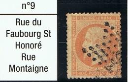 N°23 Etoile 9 Frappe Lisible Beau Timbre - 1862 Napoléon III