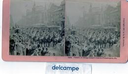 PHOTO STEREOSCOPIQUE -  Parade,  LI  HUNG  CHANG ' S Visit  To  PHILADELPHIA, PA  - 1897 - Photos Stéréoscopiques