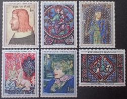 DF40266/956 - 1964 - OEUVRES D'ART - LUXE - N°1413 + N°1419 + N°1424 à 1427 NEUFS** - France