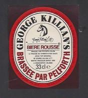 Etiquette De Bière Rousse 33 Cl - George Killian's  -  Brasserie  Pelforth à Lille  (59) - Beer