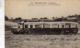 La 'Micheline' - 24 Places - Prémier Auto-rail Sur Pneus Crée Par Le PNEU MICHELIN  -  CPA - Eisenbahnen