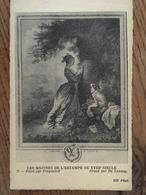 """CPA, Maïtres De L'Estampe Au XVIII  Siècle, Peint Par Fragonard,gravé Par De Launay, """"le Chiffre D'Amour"""", éd ND, 1919 - Peintures & Tableaux"""